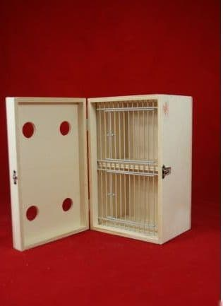 Transport box with cover, small, 2 compartments 06E22