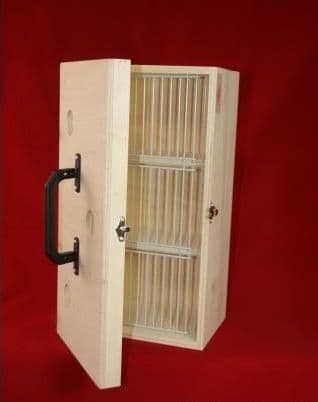 Transport box with cover, small 3 compartments, (06E04)