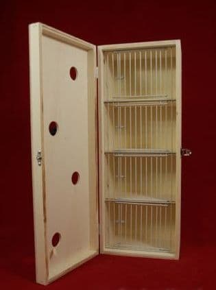 Transport box with cover, small 4 compartments, (06E06)