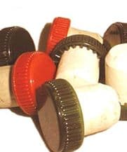 Red Colmated Plastic Top Corks (Bag of 25)