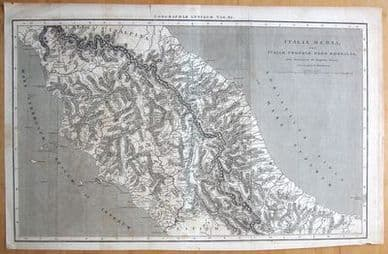 ITALY, Macpherson classical antique map 1820