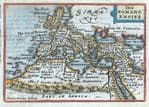 ROMAN EMPIRE, Van Den Keere, Miniature Speed original antique map 1675