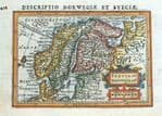 SCANDINAVIA Original Antique Maps