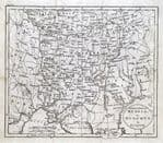 SOUTHERN RUSSIA or MUSCOVY IN EUROPE Original Guthrie Antique Map 1793