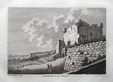 TYNEMOUTH CASTLE, NORTHUMBERLAND antique print 1783