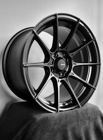 Advanti Racing Storm S1  17x 8 -4X100, 45mm - Matte Black ·