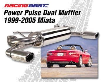 Mazda MX5 1999-2005 Power Pulse Dual Tip Silencer (One exit each side)