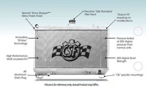 Mazda MX5 NA & NB CSF High Flow Radiators  1998-2005 Road or Race