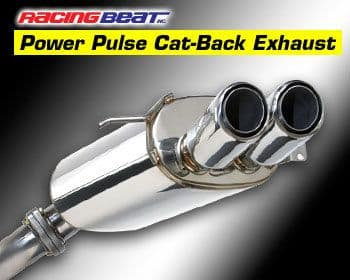 Mazda RX7 FD3S   CAT BACK EXHAUST- RACING BEAT DUAL TIP 1991-02 To Fit Any Model
