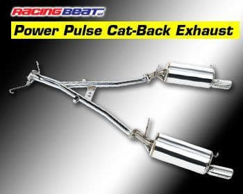 Mazda RX7  Racing Beat Power Pulse Street Legal  Cat Back Exhaust System 86-91 Turbo II & Non Turbo