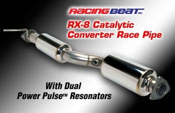 Mazda RX8  Silenced De-Cat Pipe  to fit Any RX-8 Model from 04-2011 Made by Racing Beat