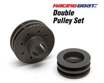 Racing Beat Double V Alloy Alternator and Main Drive Pulley Set 1974-92