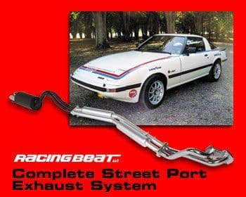 Racing Beat RX7 (1979 to 1985) - Complete Exhaust System for Standard and Ported engines