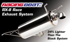 """Racing Beat  RX8 Race 3"""" Cat Back Exhaust System for 2004-08 models"""