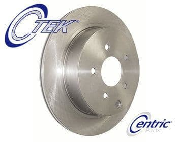 RX7 FB Brake Discs Rear - Centric C-Tek  Slotted Discs 12A All Years   (4& 5 Stud Version)