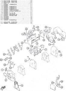 RX8 Engine installation kit / All exterior gaskets Genuine Mazda for 192 & Auto RX8