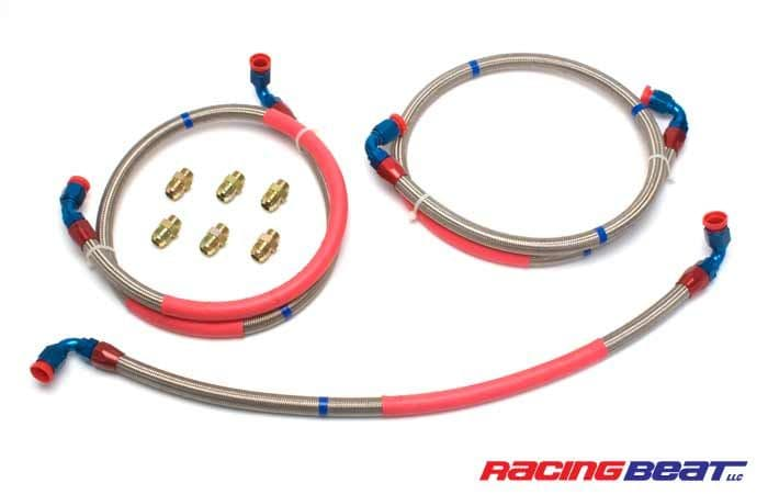 RX8 Oil Cooler Hose Kit made by Racing Beat to replace the complete Oil Pipe System