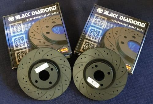 RX8 & R3  DRILLED & GROOVED Brake  Discs Made by Blackdiamond 2003-2012