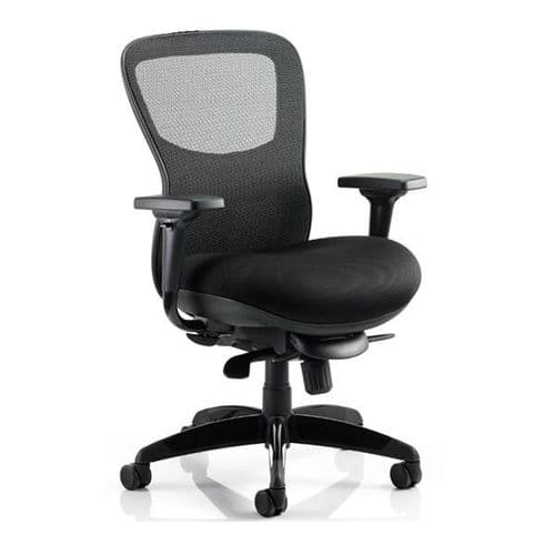 Arrow Mesh Heavy Duty 24 Hour Office Chair 30 Stone