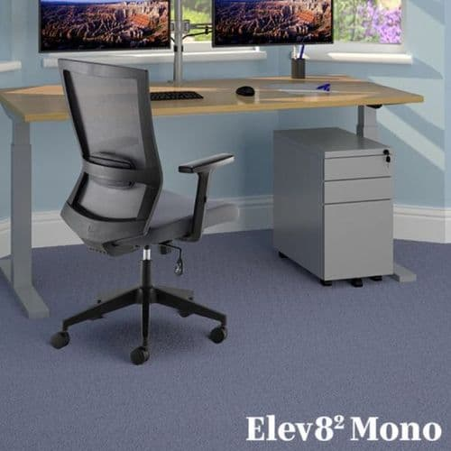 Elev8 sit-stand desk and travis office chair