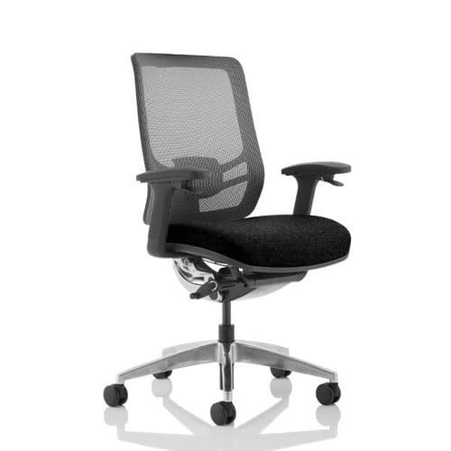 Ergo Click Fabric Seat Black Mesh Back Office Chair