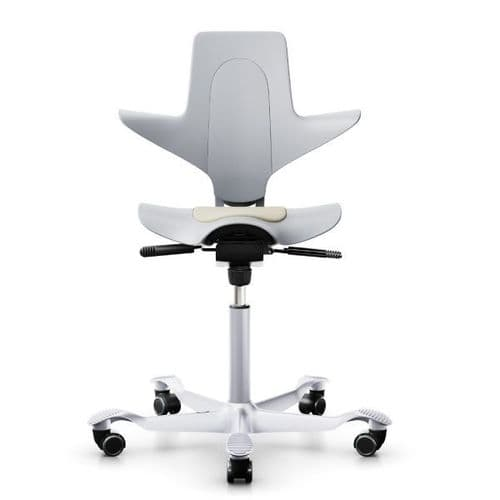 HAG Capisco Puls 8010 Light Grey Saddle Chair - Design Your Own - In Stock