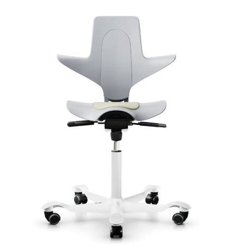 HAG Capisco Puls 8010 Light Grey Saddle Chair - In Stock