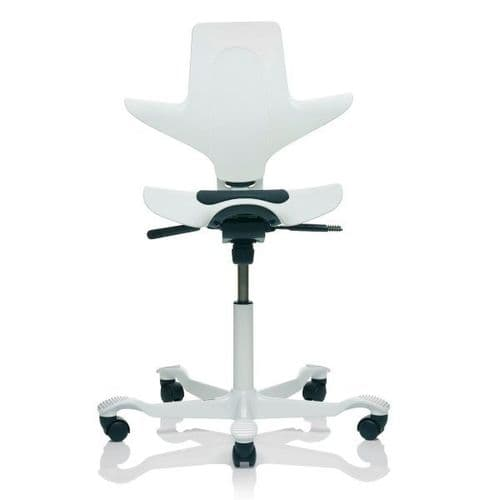 HAG Capisco Puls 8010 White Saddle Chair - In Stock