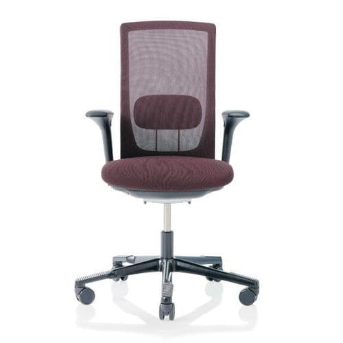HAG Futu Mesh Office Chair - Aubergine