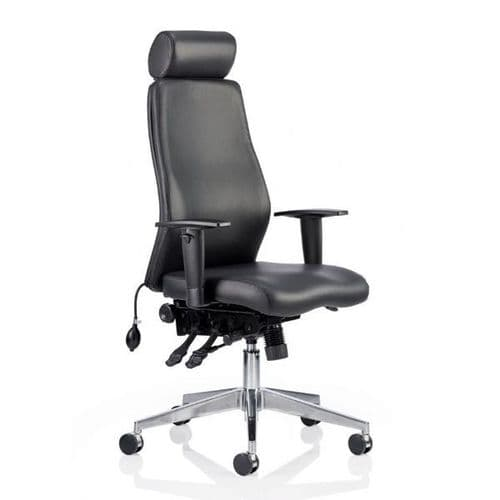 Jet 24 Hour Leather Ergonomic Chair
