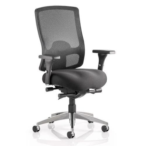 Regent Mesh Heavy Duty Office Chair 32 Stone