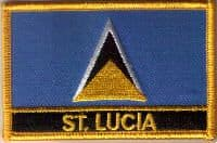 St. Lucia Embroidered Flag Patch, style 09.