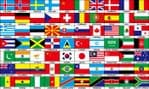 70 Countries Large Flag - 5' x 3'.