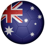 Australia Football Flag 58mm Fridge Magnet