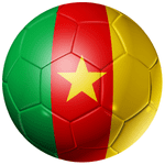 Cameroon Football Flag 58mm Button Badge