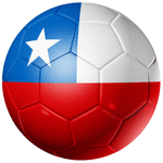 Chile Football Flag 58mm Fridge Magnet