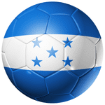 Honduras Football Flag 58mm Mirror