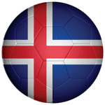 Iceland Football Flag 58mm Mirror