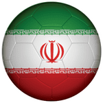 Iran Football Flag 58mm Mirror