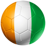 Ivory Coast Football Flag 58mm Mirror