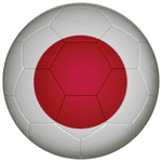 Japan Football Flag 58mm Mirror