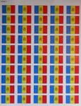Moldova Country Flag Stickers (50 Per Sheet).