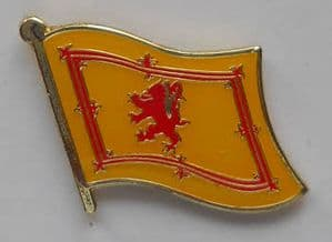 Scotland (Lion) Country Flag Enamel Pin Badge