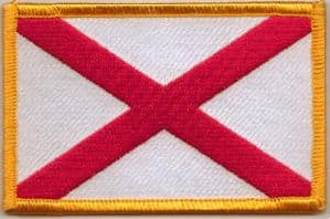 Alabama Embroidered Flag Patch, style 08.