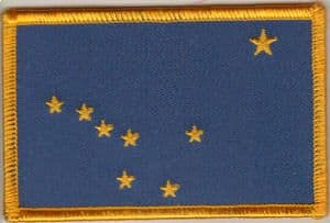 Alaska Embroidered Flag Patch, style 08.