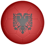 Albania Football Flag 25mm Fridge Magnet