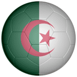 Algeria Football Flag 58mm Button Badge