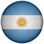 Argentina Football Flag 25mm Fridge Magnet