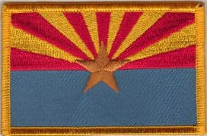 Arizona Embroidered Flag Patch, style 08.