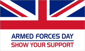 Armed Forces Day Large Flag - 5' x 3'.